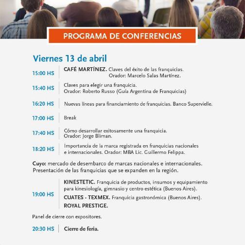 Programa conferencias expo 2